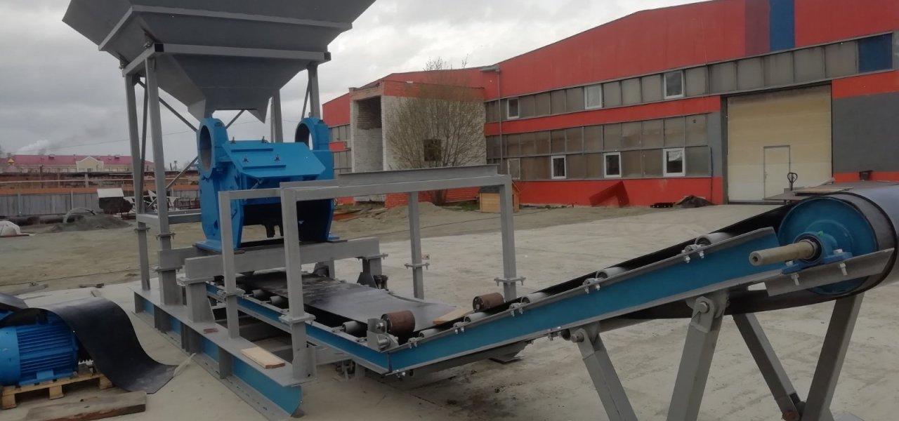 Производство полумобильного комплекса дробления огнеупорного кирпича