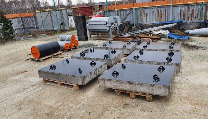 в адрес Новолипецкого Металлургического комбината отгружены два магнитных перемешивателя шихты массой 10 тонн и производительностью 400 т/ч.